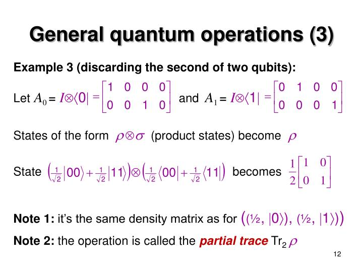 General quantum operations (3)