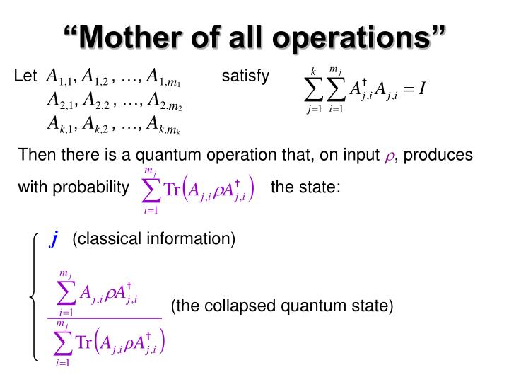 """""""Mother of all operations"""""""