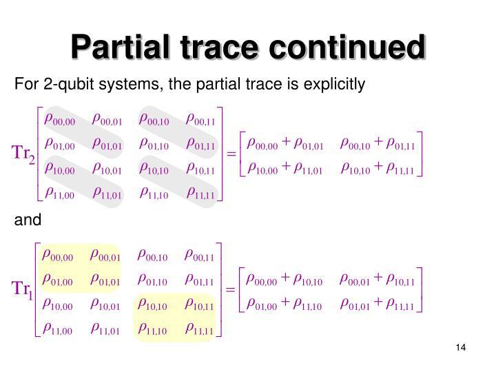 Partial trace