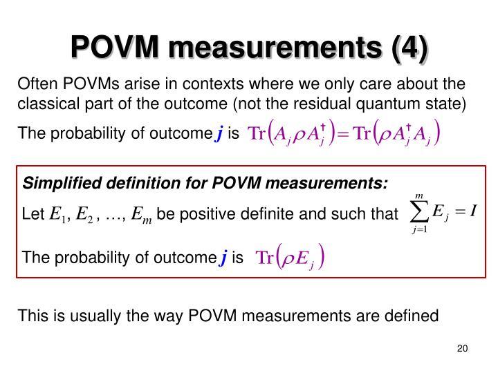 POVM measurements (4)