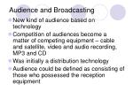 audience and broadcasting