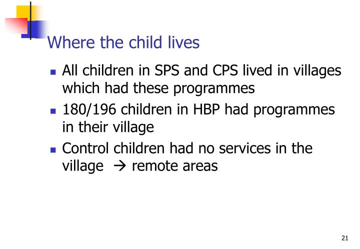 Where the child lives