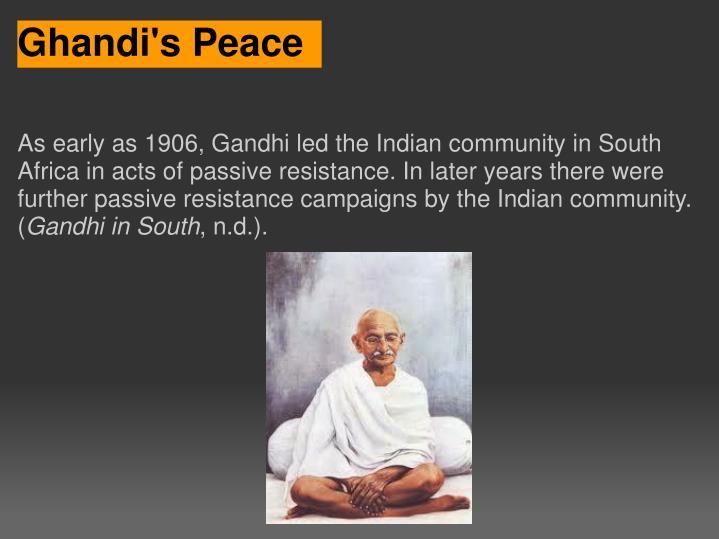 Ghandi's Peace