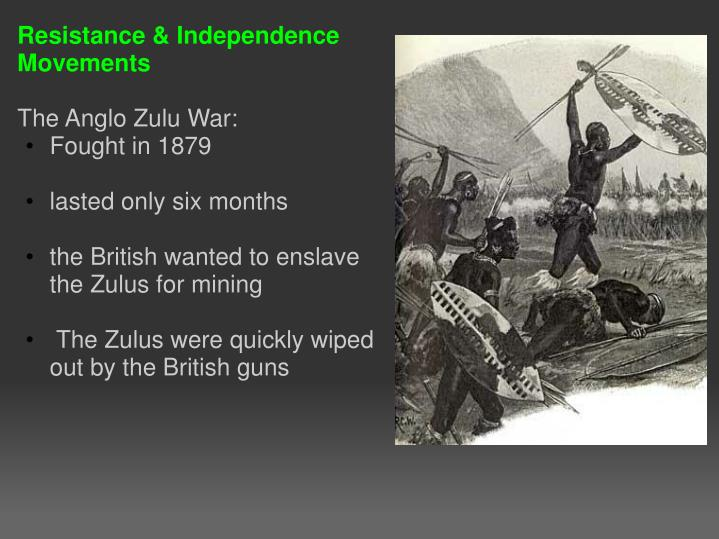 Resistance & Independence Movements