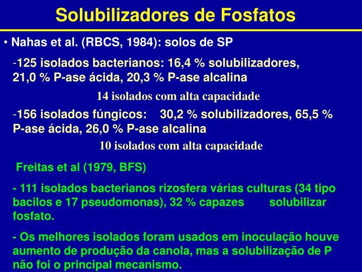 Solubilizadores de Fosfatos