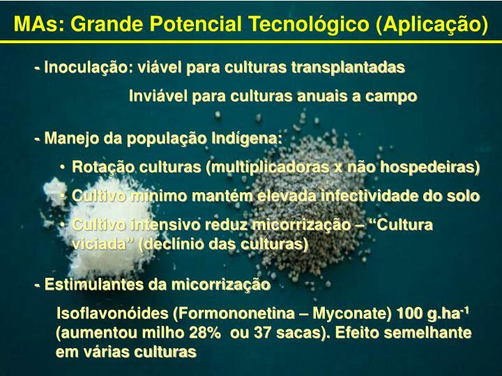 MAs: Grande Potencial Tecnológico (Aplicação)