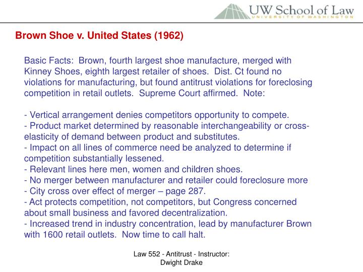 Brown Shoe v. United States (1962)
