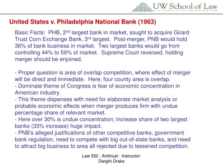 United States v. Philadelphia National Bank (1963)