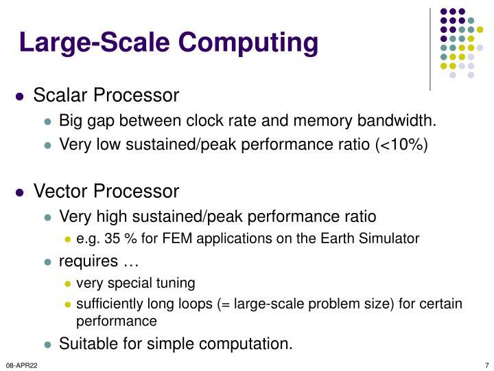 Large-Scale Computing