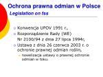 ochrona prawna odmian w polsce legislation on fss
