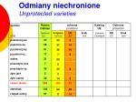 odmiany niechronione unprotected varieties3