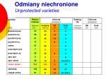 odmiany niechronione unprotected varieties4