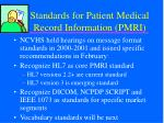 standards for patient medical record information pmri1
