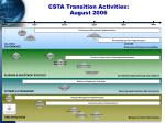 csta transition activities august 2006