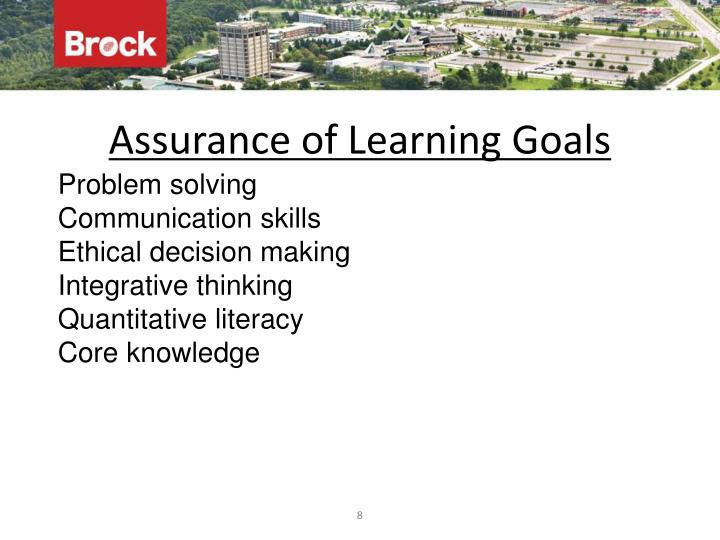 Assurance of Learning Goals