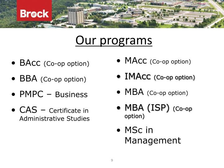 Our programs