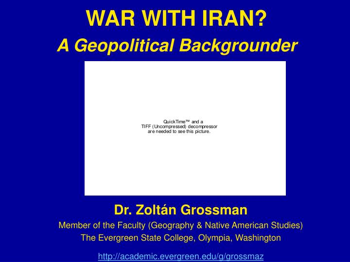 war with iran a geopolitical backgrounder n.