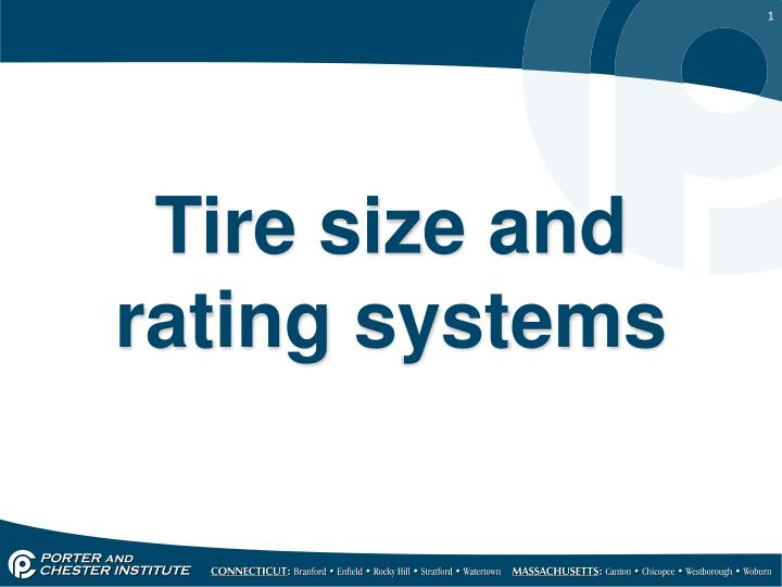 tire size and rating systems n.