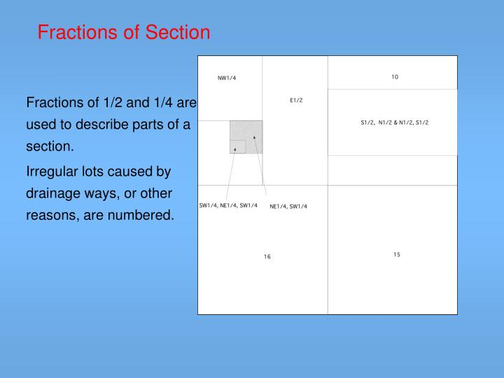 Fractions of Section
