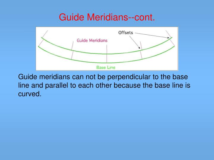 Guide Meridians--cont.