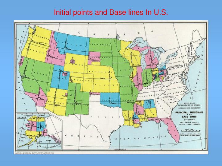 Initial points and Base lines In U.S.