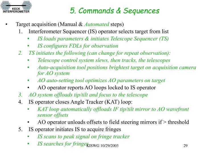 5. Commands & Sequences