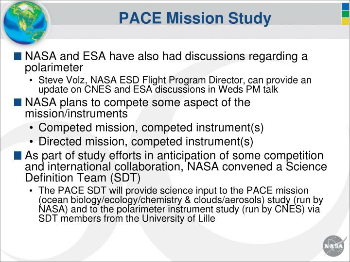 Pace mission study1