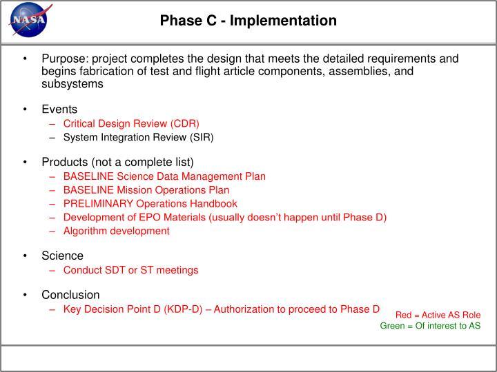 Phase C - Implementation