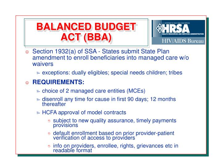balanced budget amendment 1997 analysis A pollution control approach to analysis of the balanced budget amendment by dwight r lee and robert l sexton abstract fiscal pollution (excessive budget deficits), in certain aspects, is.