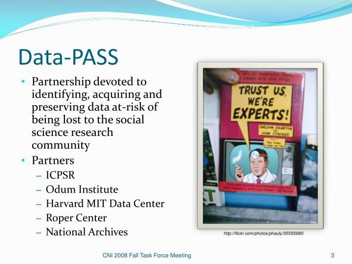 Data pass