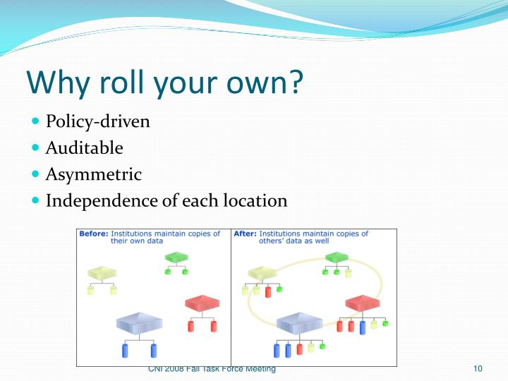 Why roll your own?