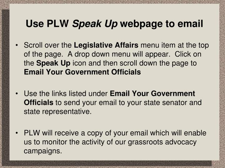 Use PLW