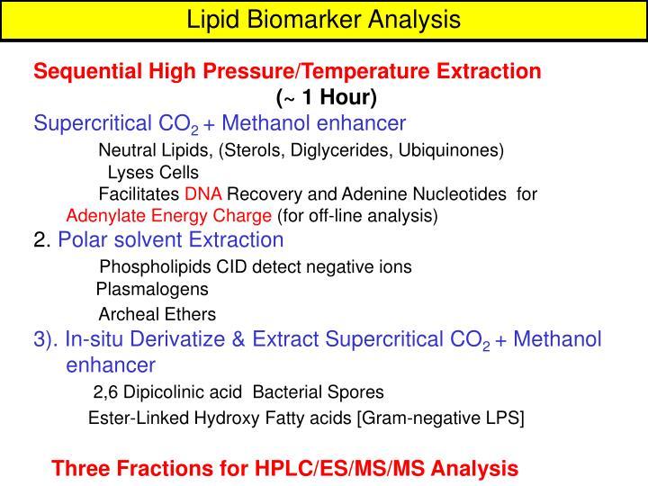 Lipid Biomarker Analysis