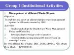 group 1 institutional activities7