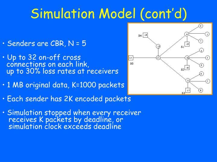 Simulation Model (cont'd)