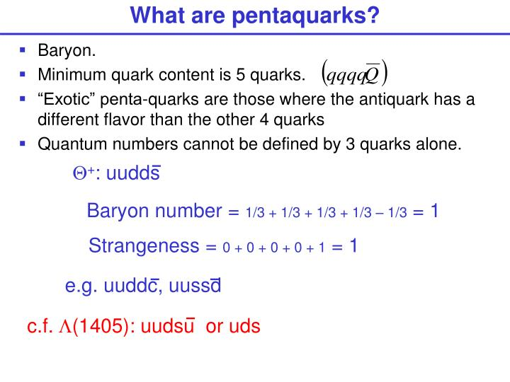 What are pentaquarks