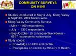 community surveys on h1n1