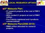 local research uptake