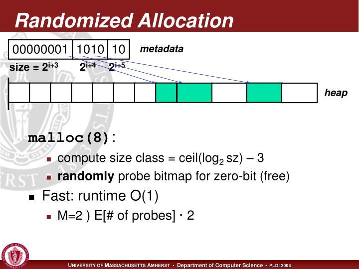 Randomized Allocation