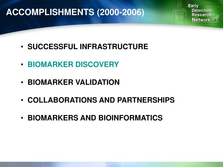 ACCOMPLISHMENTS (2000-2006)