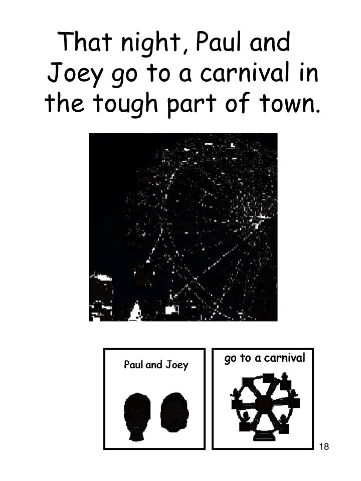 That night, Paul and Joey go to a carnival in the tough part of town.