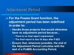 adjustment period1