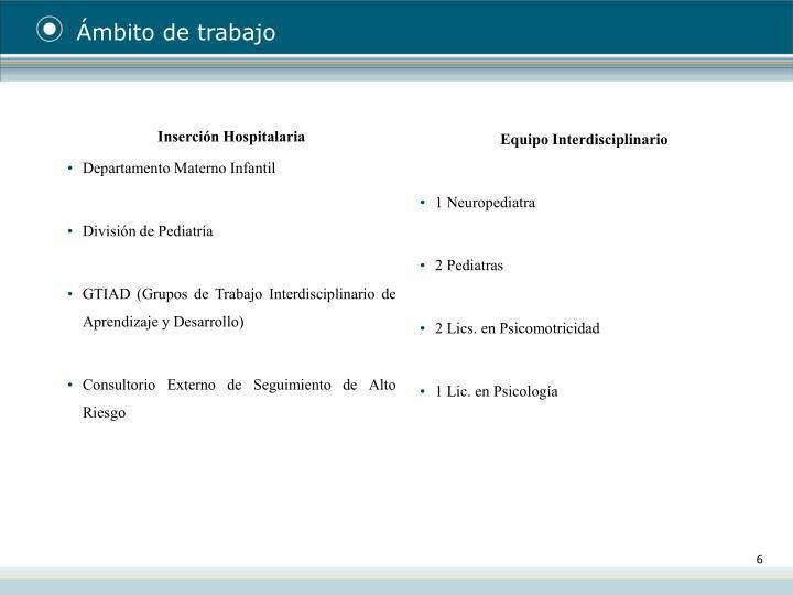 Inserción Hospitalaria