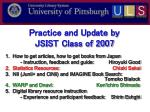 practice and update by jsist class of 2007