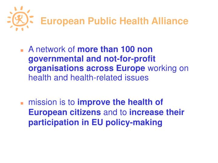 public health and health advocacy project The field of public health is focused on both the management and prevention of diseases and various health conditions amongst populations and their communities.
