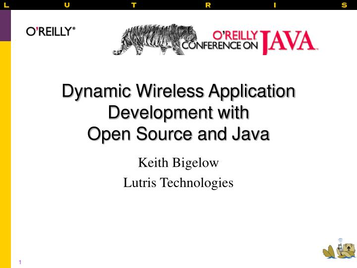 dynamic wireless application development with open source and java n.