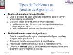 tipos de problemas na an lise de algoritmos2