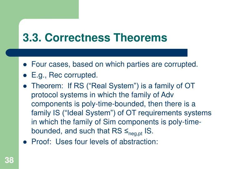 3.3. Correctness Theorems