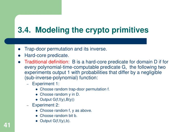 3.4.  Modeling the crypto primitives