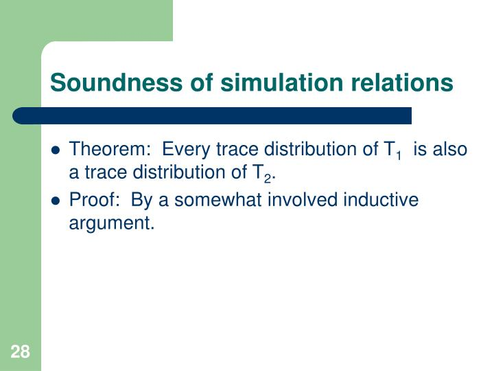 Soundness of simulation relations